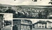 Ortsansicht und Schwalbacher Straße, Kirchgasse 1 sowie Schule, um 1940. Foto: R. Wick