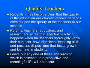 Qualities required for teachers