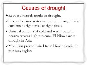 Causes of drought