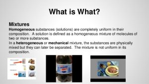 How are mixtures defined
