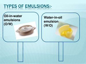 There are two types of emulsion