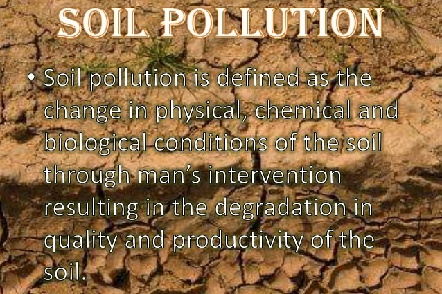What is soil pollution definition causes effects for Soil pollution definition
