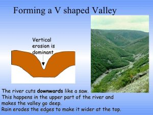 How is valley formed