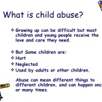 What is child a abuse