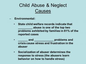 Causes of child neglect
