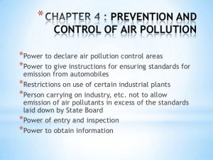 How to prevent air pollution