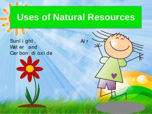 Use of natural resource