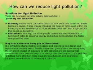 Ways to reduce light pollution