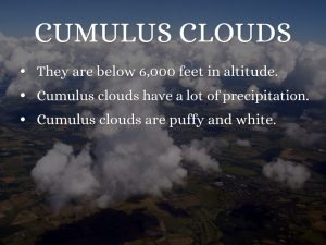 Cumulus clouds facts
