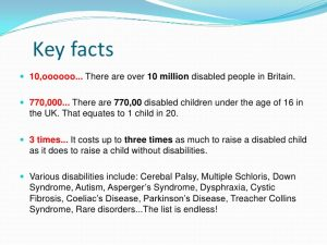 Facts about disabilities