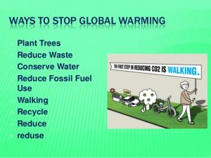 Steps to stop global warming
