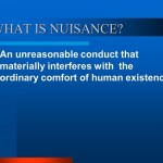What is Nuisance