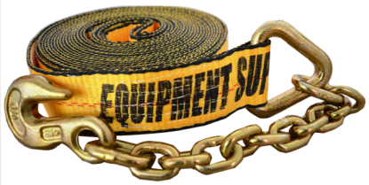 2in x 30ft ESC Premium Winch Strap with Chain Anchor