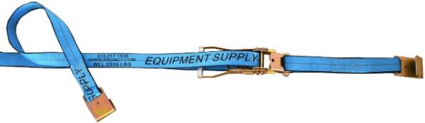 "2"" x 30' Blue Ratchet Strap w/ Flat Hook - Blue"