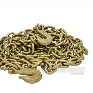 "3/8"" x 20ft Grade 70 Transport Chain Assembly with Grab Hooks"