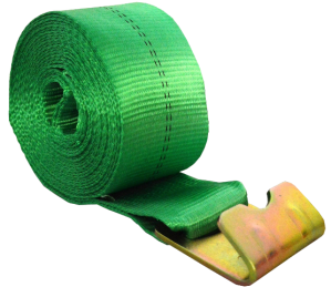 "4"" x 27' winch strap with flat hook green esc brand equipment supply of cincinnati"