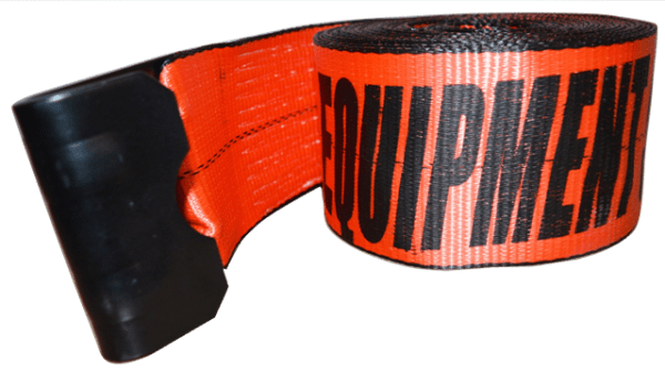 4in x 30ft ESC Winch Strap with Flat Hook Red - view 1