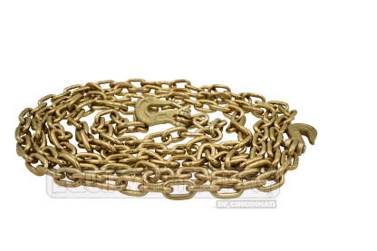 """5/16"""" x 20ft Grade 70 Transport Chain Assembly with Grab Hooks"""