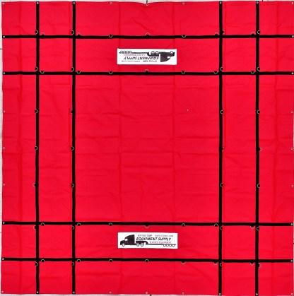 16' x 16' Steel Tarp, 18oz. PVC Vinyl - RED