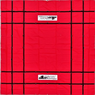 16' x 16' Steel Tarp, 18oz. PVC Vinyl - RED