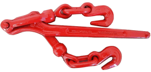 "5/16"" - 3/8"" lever load binder with clevis grab hooks red 5400lb wll esc"
