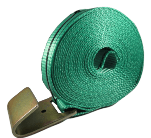 "2"" x 27' Winch Strap with Flat Hook - Green"