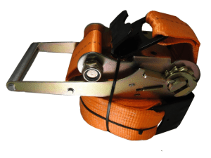 "4"" x 30' ratchet strap with flat hook esc brand orange"