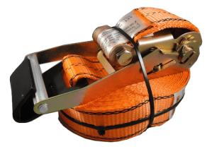 2 x 30 ratchet strap with flat hook, orange