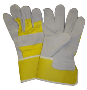 single palm, yellow/gray rigger gloves