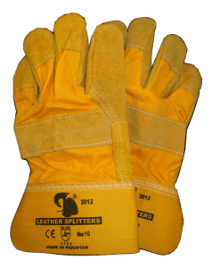 double palm yellow/brown rigger gloves
