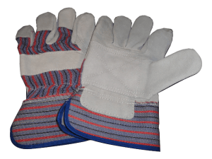 double palm red blue rigger gloves