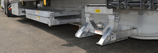 HD Ramps Installed on side of trailer - Bolt-On - Benson Drop Deck