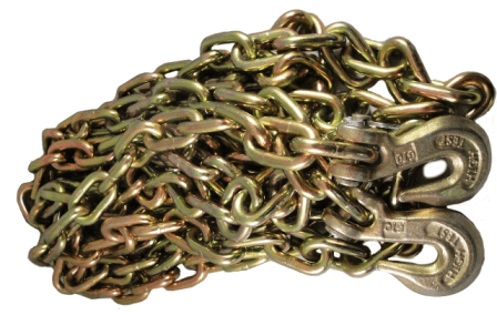 3/8-in. x 20-ft. G70 Transport Chain with Clevis Grab Hooks