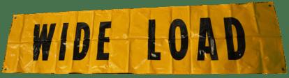 wide load sign web