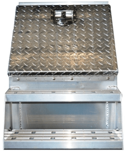 18 inch step box sturdy lite diamond plate aluminum