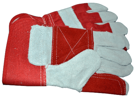 Red White Rigger Gloves Double Palm China High Quality
