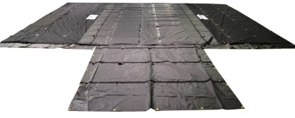 parachute tarp lumber tarp 8 foot drop esc black