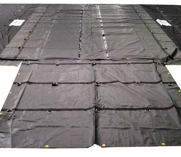 parachute tarp lumber tarp 8 foot drop esc black