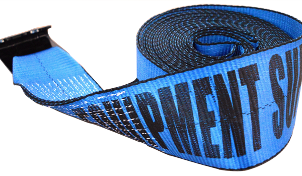 4in x 30ft ESC Winch Strap with 3in Flat Hook Blue - view 1