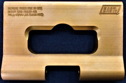 EAST TRAILER J-PLATE - GOLD