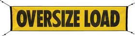 "AVMB104 - 18"" x 84"" OVERSIZE LOAD MESH BUNGEE BANNER"
