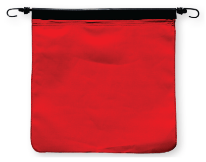 FB200C - RED COTTON BUNGEE FLAG