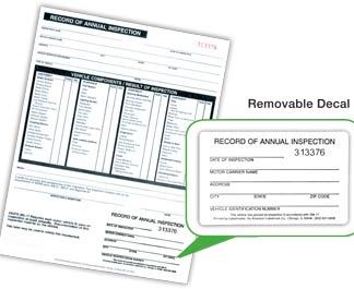 MSDRI-97R - Annual Inspection Form W/Decal