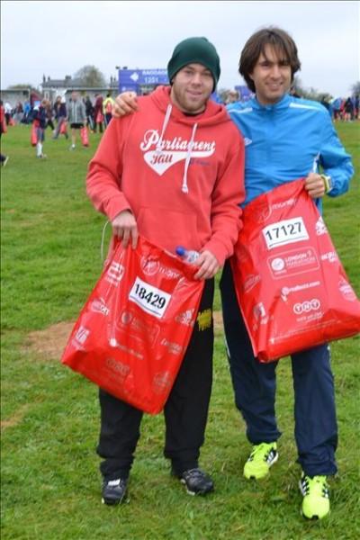 Simone e Ernie alla Maratona di Londra 2015