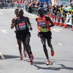 Wilson Kipsang alla Maratona di Londra nel 2012.