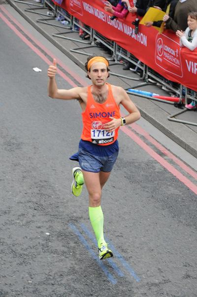 Maratona di Londra, Simone Luciani