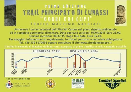 """Trail del Principato di Lunassi """"Corri coi Lupi"""""""