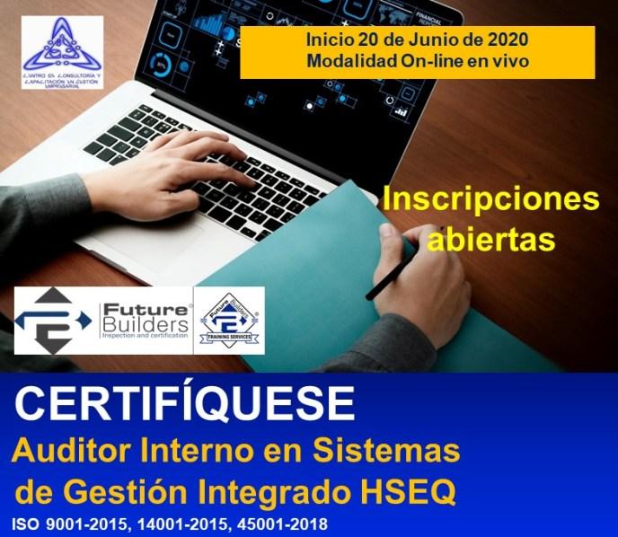 CURSO AUDITOR INTERNO EN SISTEMAS INTEGRADOS DE GESTIÓN HSEQ