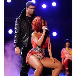 Drake and Rihanna perform onstage during The 53rd Annual GRAMMY Awards held at Staples Center on February 13, 2011 in Los Angeles, California.