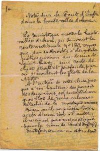 François Marsan manuscrit